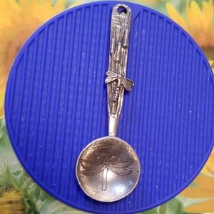 Pewter Spoon with Dragonfly Motif